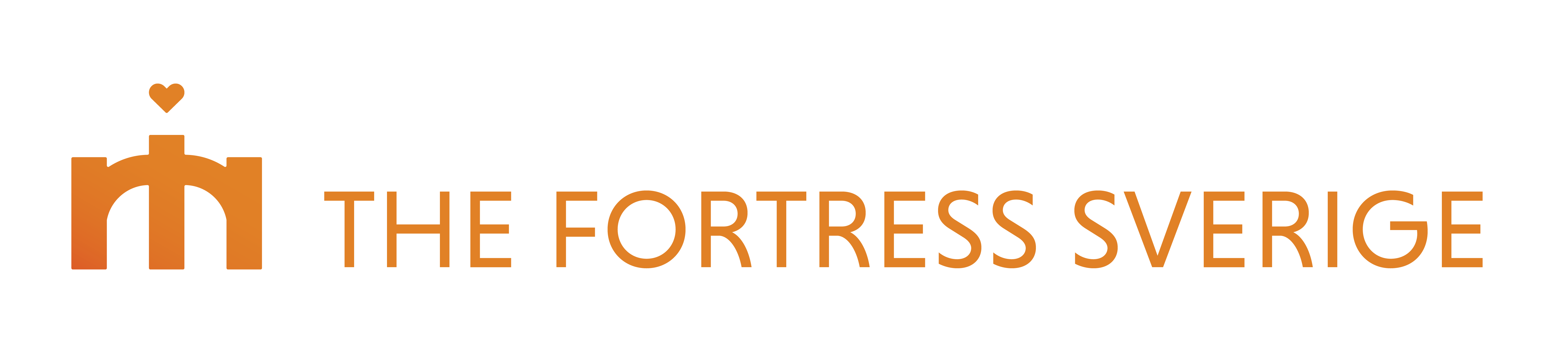 The Fortress Logo Symbol Text Transparent Horizontal